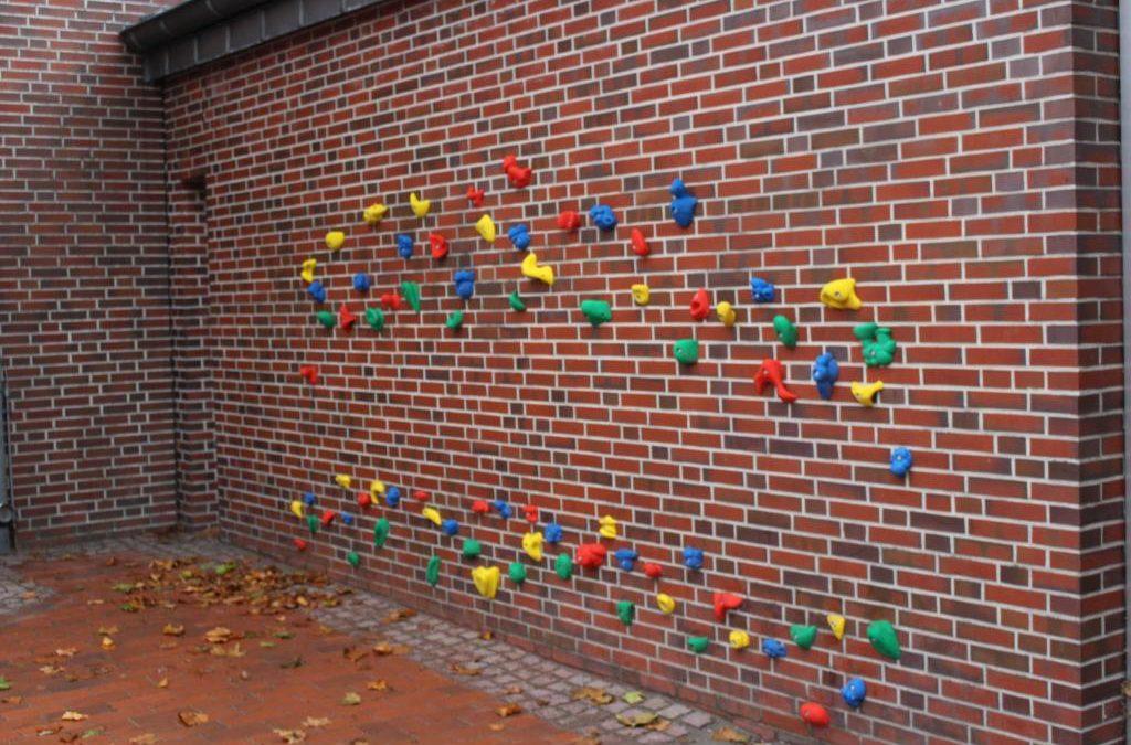 Bouldern auf dem Schulhof