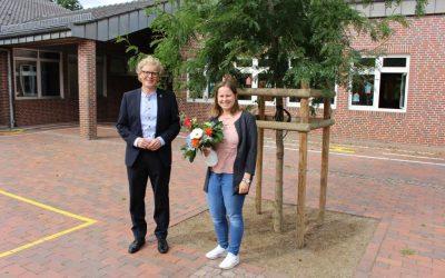 Begrüßung von Frau Hartmann